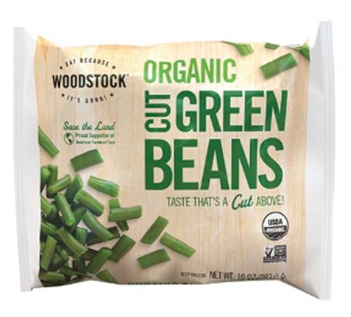 GREEN BEANS, CUT, Organic, Woodstock, 10 OZ (Frozen)