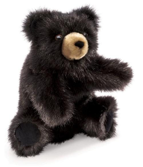 BABY BLACK BEAR PUPPET, Folkmanis