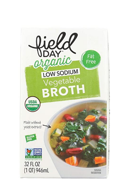 BROTH, *OVERSTOCK SALE* VEGETABLE BROTH, Organic, Low Sodium  32 fl oz