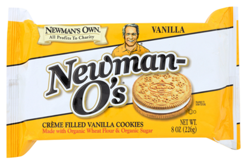 COOKIES, VANILLA/VANILLA CREAM, Organic, NEWMAN'S OWN,  13 oz