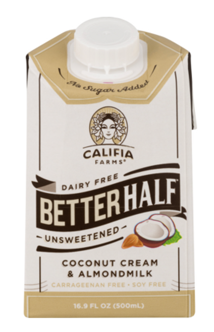 CREAMER, BETTER HALF, UNSWEETENED,  Almond-Coconut, Califia - 16.9 fl oz (500 mL)