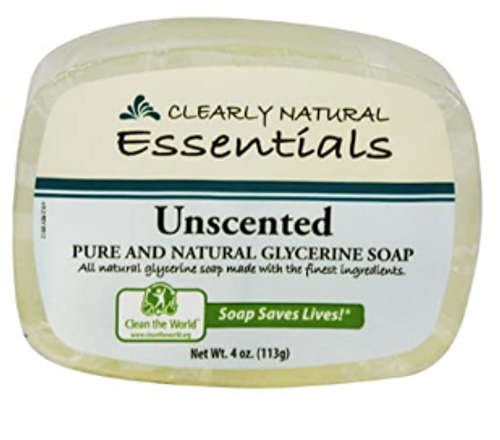 BAR SOAP, GLYCERINE UNSCENTED, Clearly Natural,  4.oz