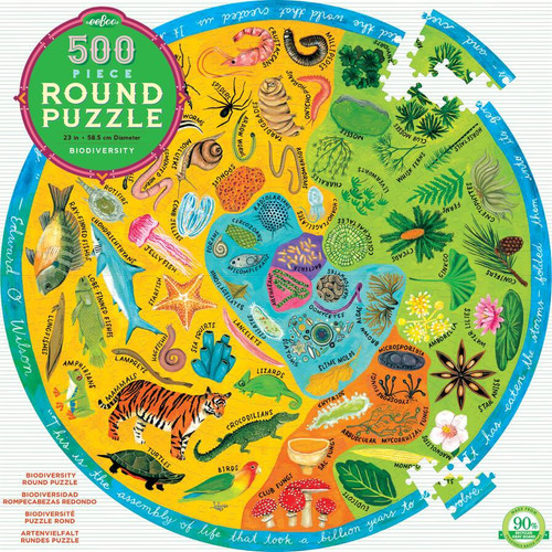 PUZZLE, Biodiversity, eeBoo - Round, 500 Piece