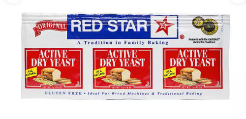 BAKING YEAST ENVELOPES, Red Star, 3 packs