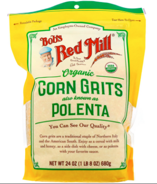 CORN GRITS/POLENTA, Organic, BOB'S RED MILL,    24 oz