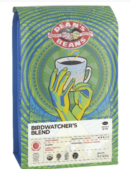 COFFEE, BIRDWATCHER'S, Organic Whole Bean, Dean's Beans by the lb. (give the grind at checkout)