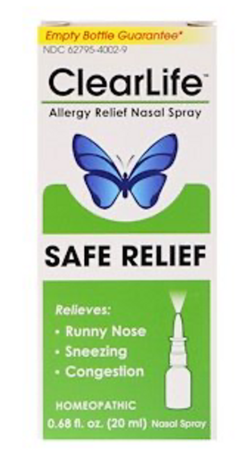 ALLERGY RELIEF NASAL SPRAY, ClearLife, .68 fl oz