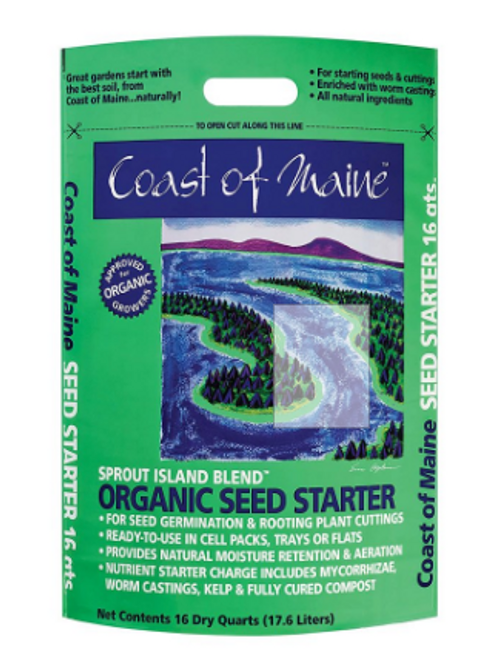 SEED STARTER MIX SOIL, ORGANIC, Sprout Island, 16 quarts