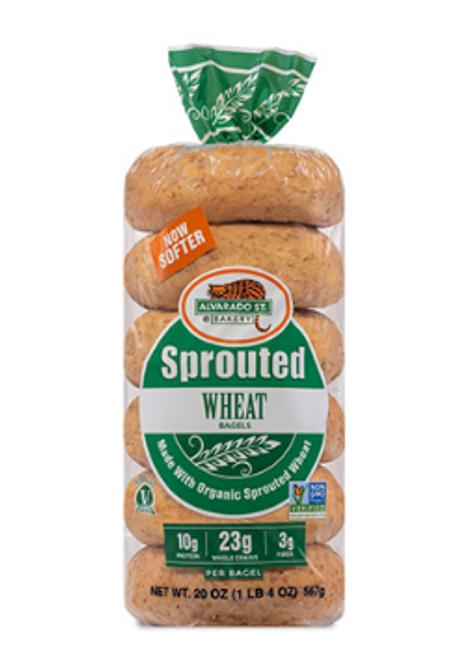 Alvarado Street Bakery - Plain wheat bagels
