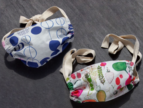 FACE MASKS WITH TIES - EACH