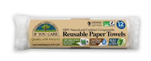 REUSABLE PAPER TOWELS, Compostable, 12 count