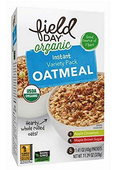 INSTANT OATMEAL VARIETY PACK, Organic  Field Day - 8 ct