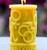 Manifestation COEXIST BEESWAX CANDLE, 3X4 inch PILLAR