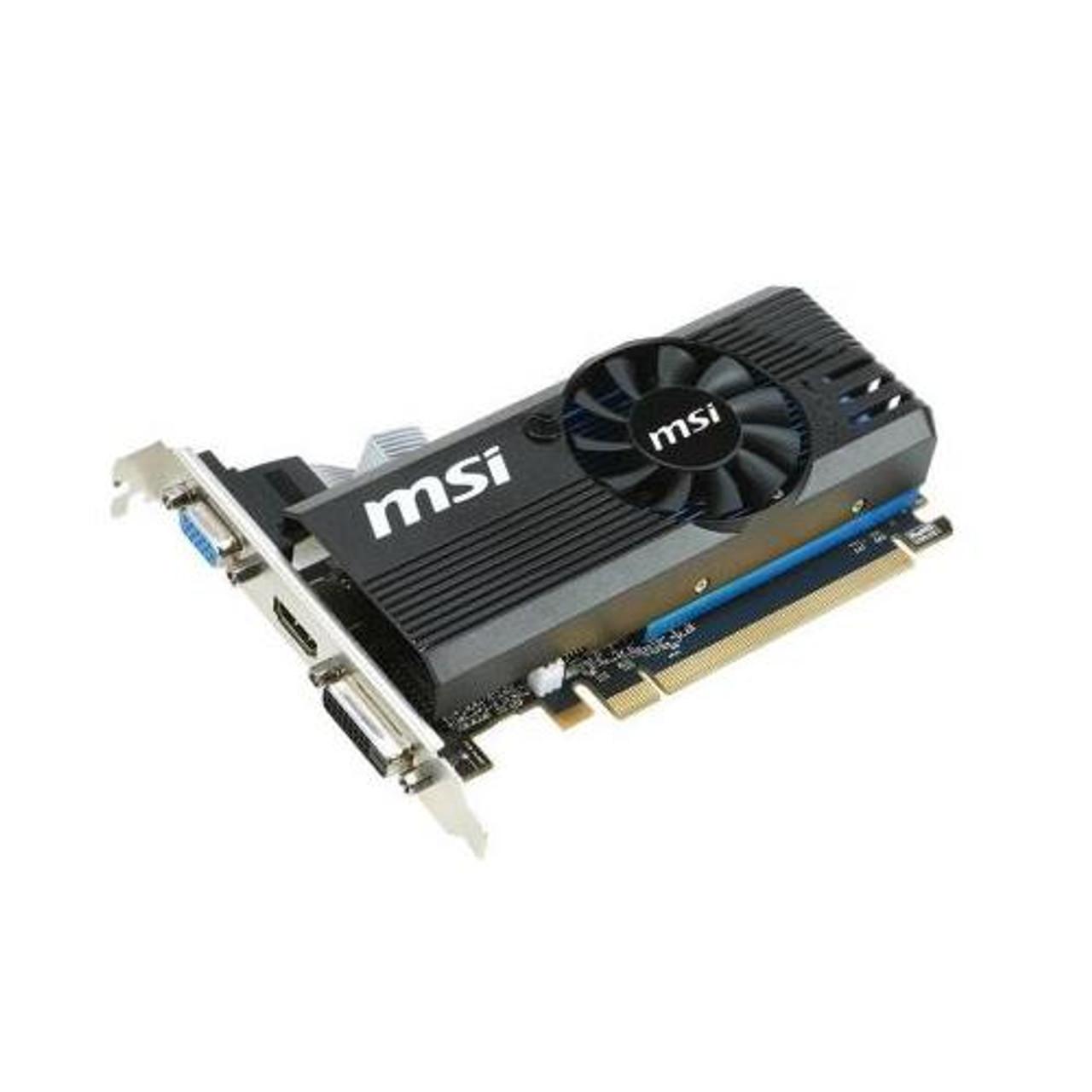 MSI-730G25 MSI NVidia GeForce GT 730 2GB GDDR5 VGA/DVI/HDMI PCI Express Low  Profile Video Graphics Card