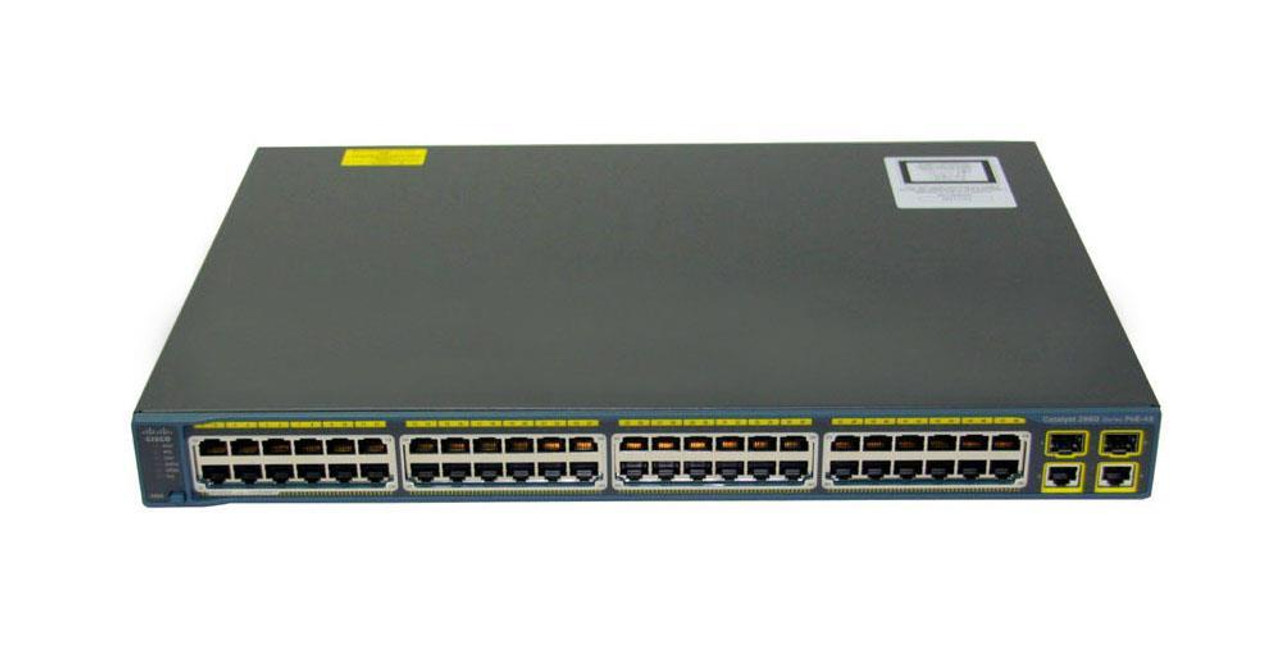 WS-C2960-48PST-L-M-RF Cisco Catalyst 2960-48PST-L 48-Ports PoE Manageable  Ethernet Switch with 2x 10/100/1000 Uplink Ports and 2x SFP Uplink Ports (Re