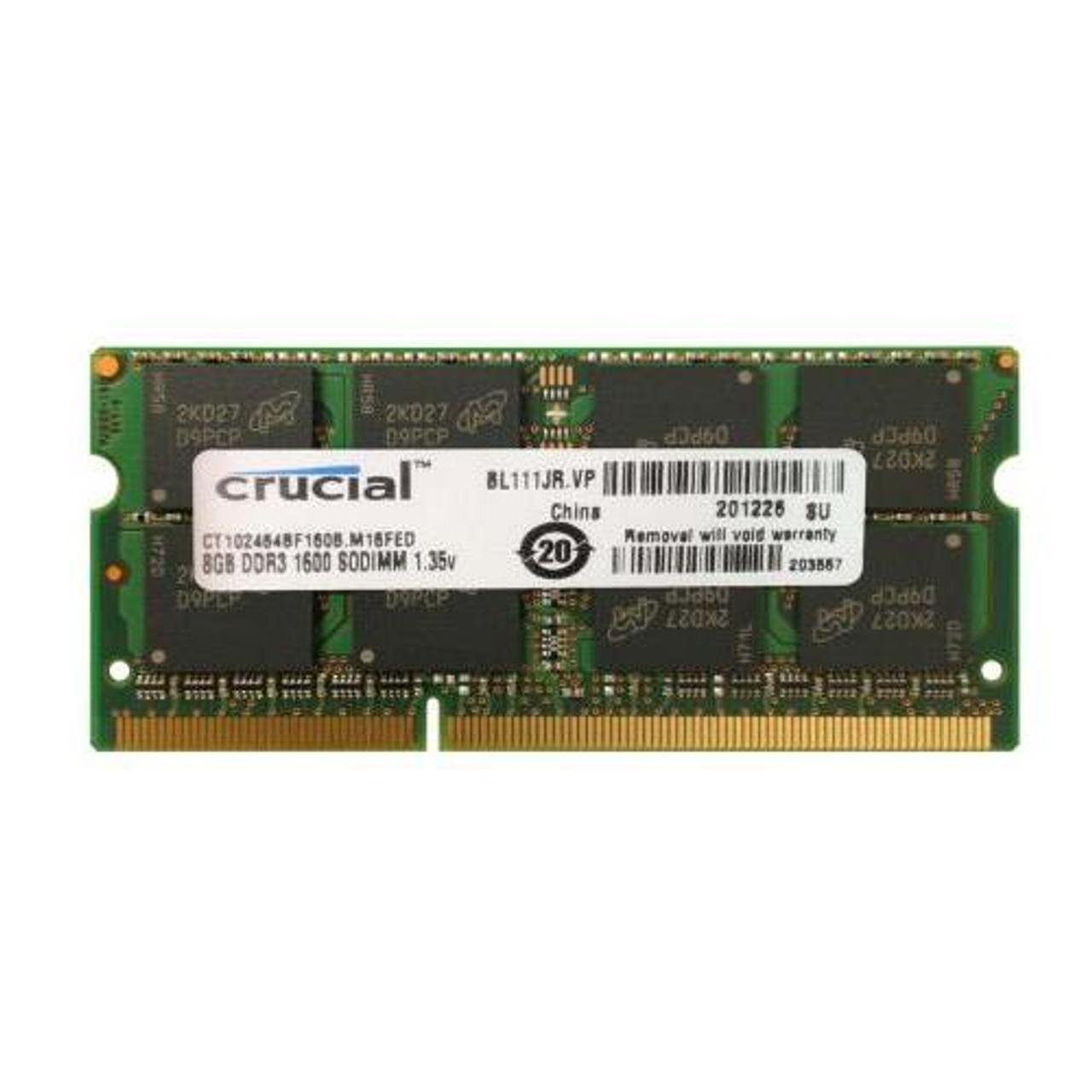 Crucial 8GB PC3-12800U Desktop Memory CT102464BD160B