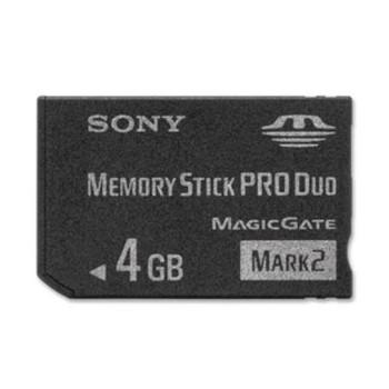 MSMT4G Sony 4GB Memory Stick Pro Duo Mark2 Media Card
