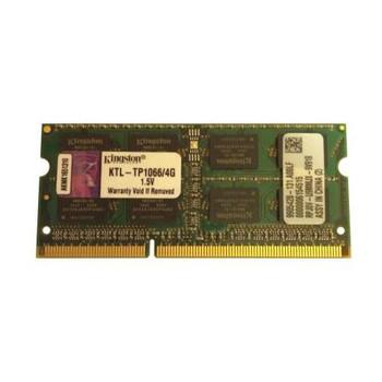 KTL-TP1066/4G Kingston 4GB DDR3 SoDimm Non ECC PC3-8500 1066Mhz 2Rx8 Memory