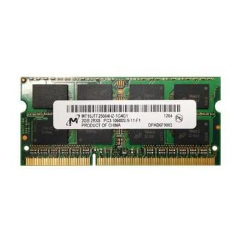 MT16JTF25664HZ-1G4 Micron 2GB DDR3 SoDimm Non ECC PC3-10600 1333Mhz 2Rx8 Memory