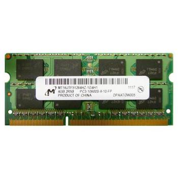 MT16JTF51264HZ-1G4H1 Micron 4GB DDR3 SoDimm Non ECC PC3-10600 1333Mhz 2Rx8 Memory