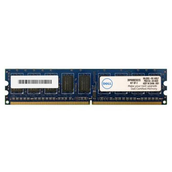 SNPKN992CK2/2G Dell 2GB (2x1GB) DDR2 ECC PC2-6400 800Mhz Memory