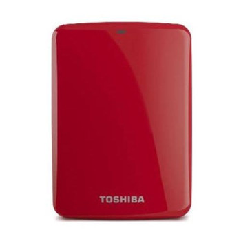 HDTC707XR3A1 Toshiba Canvio Connect 750GB 5400RPM USB 3.0 8MB Cache External Hard Drive (Red) (Refurbished)