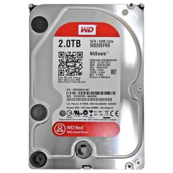 WD20EFRX Western Digital 2TB 5400RPM SATA 6.0 Gbps 3.5 64MB Cache Red Hard Drive