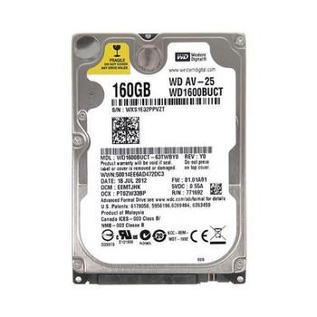 WD1600BUCT-63TWBY0 Western Digital 160GB 5400RPM SATA 3.0 Gbps 2.5 16MB Cache AV 25 Hard Drive