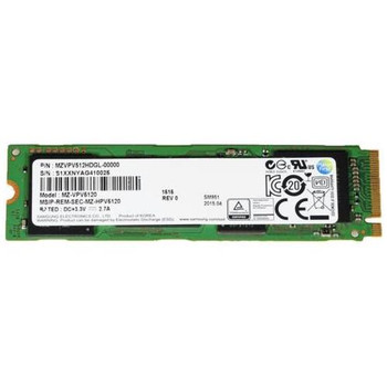 MZVPV512HDGL Samsung SM951 Series 512GB MLC PCI Express 3.0 x4 Extreme Performance M.2 2280 Internal Solid State Drive (SSD)