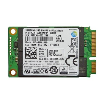 MZ-MTE256D Samsung PM851 Series 256GB TLC SATA 6Gbps mSATA Internal Solid State Drive (SSD)