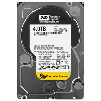 WD4000FYYZ Western Digital 4TB 7200RPM SATA 6.0 Gbps 3.5 64MB Cache RE Hard Drive