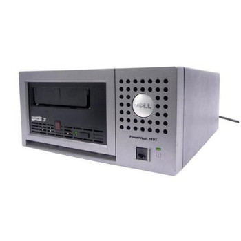 NP888 Dell PowerVault 110T 400GB(Native) / 800GB(Compressed) LTO Ultrium 3 SCSI LVD External Tape Drive