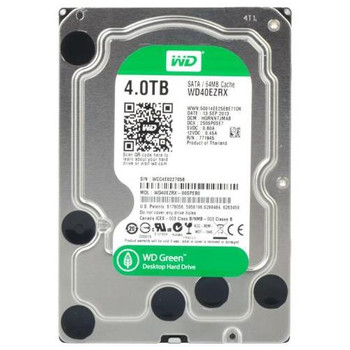 WD40EZRX Western Digital 4TB 5400RPM SATA 6.0 Gbps 3.5 64MB Cache Green Hard Drive