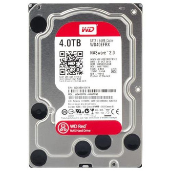 WD40EFRX Western Digital 4TB 5400RPM SATA 6.0 Gbps 3.5 64MB Cache Red Hard Drive