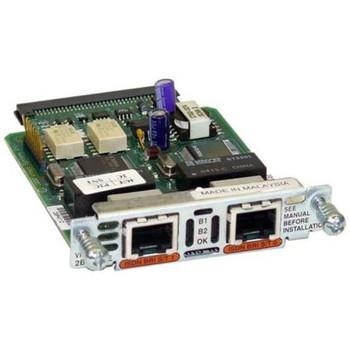 VIC2-2BRI-NT/TE Cisco 2-Ports Voice Interface Card BRI NT and TE (Refurbished)