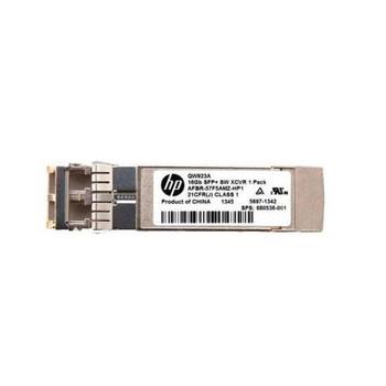 680536-001 HP QW923A 16Gbps Short Wave Fibre Channel 100m 850nm LC Connector SFP+ Transceiver Module