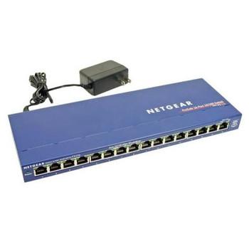 FS116P NetGear ProSafe 16-Port 10/100Mbps Fast Ethernet Switch with 8-Port PoE (Refurbished)