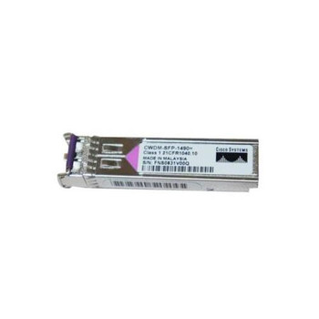 CWDM-SFP-1490 Cisco 1Gbps 1000Base-CWDM Single-mode Fiber 80km 1490nm Duplex LC Connector SFP Transceiver Module (Refurbished)