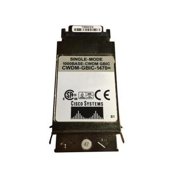 CWDM-GBIC-1470 Cisco 1Gbps 1000Base-ZX CWDM Single-mode Fiber 80km 1470nm Duplex SC Connector GBIC Transceiver Module (Refurbished)