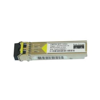 CWDM-SFP-1550 Cisco 1Gbps 1000Base-CWDM Fibre Channel Single-mode Fiber 80km 1550nm Duplex LC Connector SFP Transceiver Module (Refurbished)