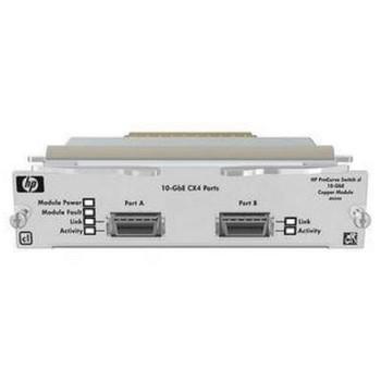J8434A#ABA HP ProCurve 3400 Series 10GBase-CX4 Copper Module 2-Port 10 Gigabit Module with Fixed CX4 (Refurbished)