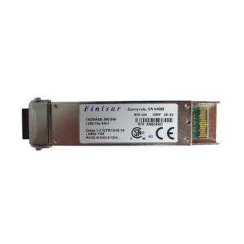 1200-MX-SN-I Finisar 10Gbps 10GBase-SR Multi-mode Fiber 300m 850nm Duplex LC Connector XFP Transceiver Module