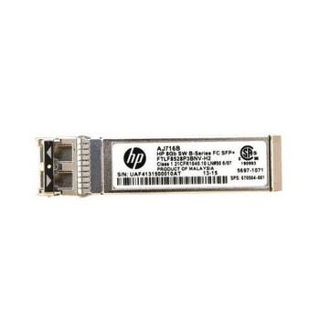 670504-001 HP B-Series 8Gbps Short Wave Fibre Channel SFP Transceiver Module