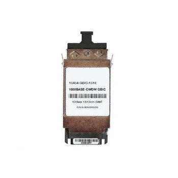 15454-GBIC-1510 Cisco 1Gbps 1000Base-CWDM Single-mode Fiber 120km 1510nm Duplex SC Connector GBIC Transceiver Module (Refurbished)