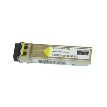 CWDM-SFP-1550-RF Cisco 1Gbps 1000Base-CWDM Fibre Channel Single-mode Fiber 80km 1550nm Duplex LC Connector SFP Transceiver Module (Refurbished)