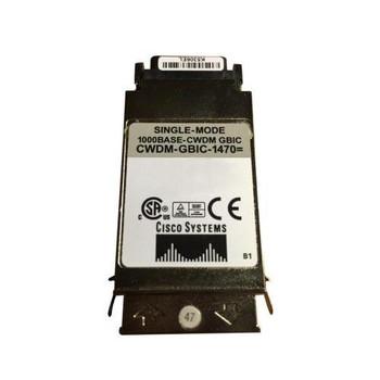 CWDM-GBIC-1470-RF Cisco 1Gbps 1000Base-ZX CWDM Single-mode Fiber 80km 1470nm Duplex SC Connector GBIC Transceiver Module (Refurbished)