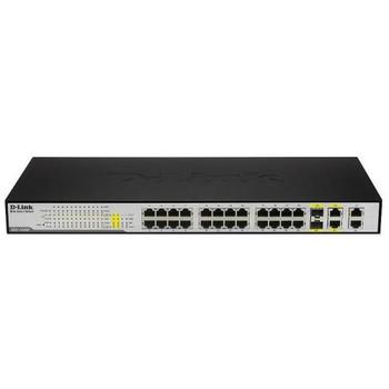 DES-1228P D-Link Web Smart 24-Ports PoE 10/100 + (4) 1000Base-T Ports + 2 Combo Ports Switch (Refurbished)