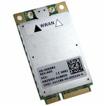 0KX582 Dell Wireless 5520 Mini-PCI Express 3G Broadband WWAN Card