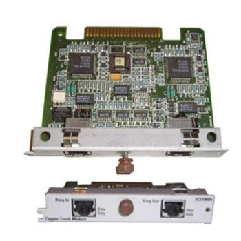 3C510504 3Com Ring In / Ring Out Token Ring Copper Module for SuperStack II Hub (Refurbished)