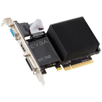02G-P3-2712-KR EVGA GeForce GT 710 Graphic Card 954 MHz Core 2GB DDR3 SDRAM PCI Express 2.0 x16 Dual Slot Space Required